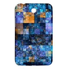 Blue Squares Abstract Background Of Blue And Purple Squares Samsung Galaxy Tab 3 (7 ) P3200 Hardshell Case  by Nexatart