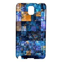 Blue Squares Abstract Background Of Blue And Purple Squares Samsung Galaxy Note 3 N9005 Hardshell Case