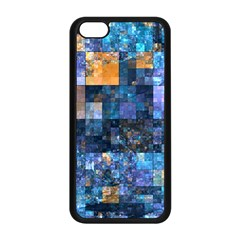 Blue Squares Abstract Background Of Blue And Purple Squares Apple Iphone 5c Seamless Case (black) by Nexatart