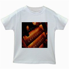 Magic Steps Stair With Light In The Dark Kids White T Shirts