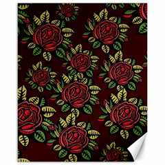 A Red Rose Tiling Pattern Canvas 16  X 20