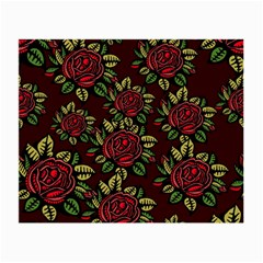 A Red Rose Tiling Pattern Small Glasses Cloth (2 Side)