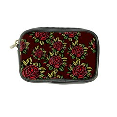 A Red Rose Tiling Pattern Coin Purse