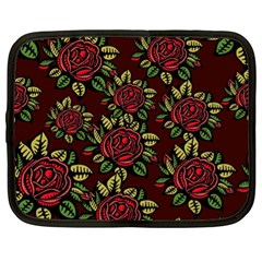 A Red Rose Tiling Pattern Netbook Case (xl)