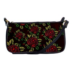 A Red Rose Tiling Pattern Shoulder Clutch Bags by Nexatart