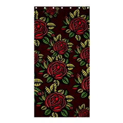 A Red Rose Tiling Pattern Shower Curtain 36  X 72  (stall)  by Nexatart