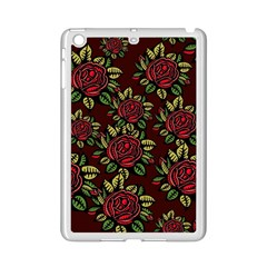 A Red Rose Tiling Pattern Ipad Mini 2 Enamel Coated Cases