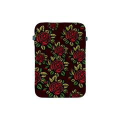 A Red Rose Tiling Pattern Apple Ipad Mini Protective Soft Cases