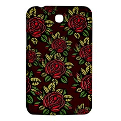 A Red Rose Tiling Pattern Samsung Galaxy Tab 3 (7 ) P3200 Hardshell Case  by Nexatart