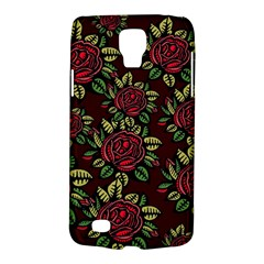 A Red Rose Tiling Pattern Galaxy S4 Active by Nexatart