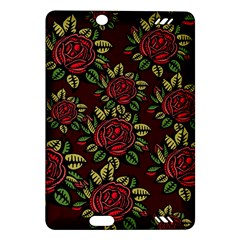 A Red Rose Tiling Pattern Amazon Kindle Fire Hd (2013) Hardshell Case