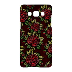 A Red Rose Tiling Pattern Samsung Galaxy A5 Hardshell Case