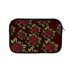 A Red Rose Tiling Pattern Apple Macbook Pro 13  Zipper Case by Nexatart