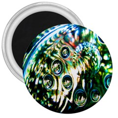 Dark Abstract Bubbles 3  Magnets by Nexatart