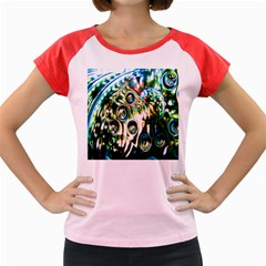 Dark Abstract Bubbles Women s Cap Sleeve T Shirt