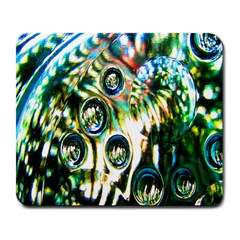 Dark Abstract Bubbles Large Mousepads by Nexatart