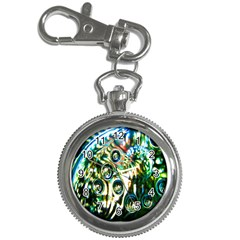Dark Abstract Bubbles Key Chain Watches by Nexatart