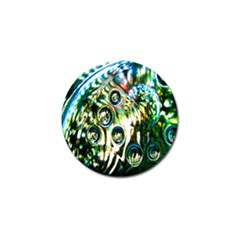 Dark Abstract Bubbles Golf Ball Marker (4 Pack)