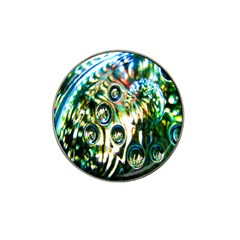 Dark Abstract Bubbles Hat Clip Ball Marker (4 Pack) by Nexatart