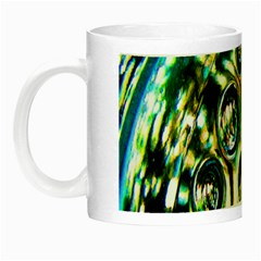 Dark Abstract Bubbles Night Luminous Mugs by Nexatart