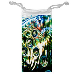 Dark Abstract Bubbles Jewelry Bag