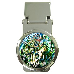 Dark Abstract Bubbles Money Clip Watches by Nexatart