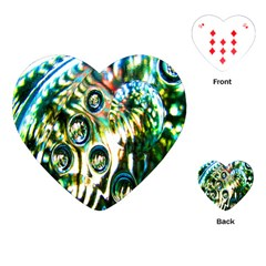 Dark Abstract Bubbles Playing Cards (heart)  by Nexatart