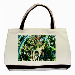 Dark Abstract Bubbles Basic Tote Bag (two Sides) by Nexatart