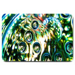 Dark Abstract Bubbles Large Doormat  by Nexatart
