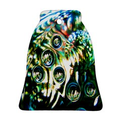 Dark Abstract Bubbles Bell Ornament (two Sides)