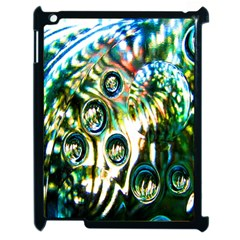 Dark Abstract Bubbles Apple Ipad 2 Case (black) by Nexatart