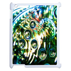 Dark Abstract Bubbles Apple Ipad 2 Case (white) by Nexatart