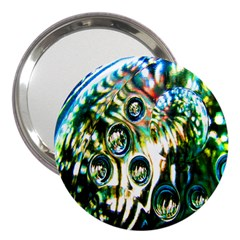 Dark Abstract Bubbles 3  Handbag Mirrors