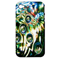 Dark Abstract Bubbles Apple Iphone 4/4s Hardshell Case (pc+silicone)