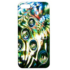 Dark Abstract Bubbles Apple Iphone 5 Hardshell Case With Stand