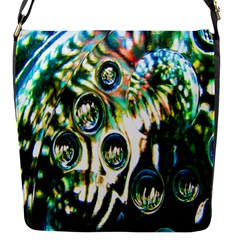 Dark Abstract Bubbles Flap Messenger Bag (s)