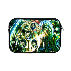 Dark Abstract Bubbles Apple Ipad Mini Zipper Cases by Nexatart