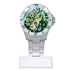 Dark Abstract Bubbles Plastic Nurses Watch by Nexatart