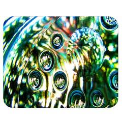 Dark Abstract Bubbles Double Sided Flano Blanket (medium)  by Nexatart