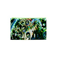 Dark Abstract Bubbles Cosmetic Bag (xs) by Nexatart