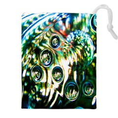 Dark Abstract Bubbles Drawstring Pouches (xxl)