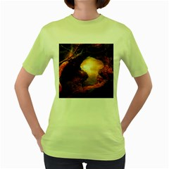 3d Illustration Of A Mysterious Place Women s Green T Shirt by Nexatart