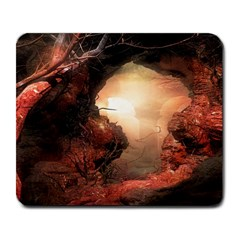 3d Illustration Of A Mysterious Place Large Mousepads by Nexatart