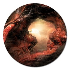 3d Illustration Of A Mysterious Place Magnet 5  (round) by Nexatart