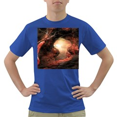 3d Illustration Of A Mysterious Place Dark T Shirt