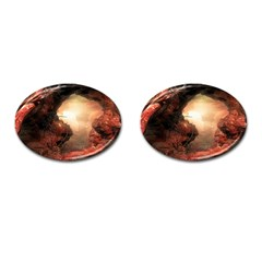 3d Illustration Of A Mysterious Place Cufflinks (oval) by Nexatart