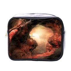 3d Illustration Of A Mysterious Place Mini Toiletries Bags by Nexatart