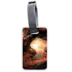 3d Illustration Of A Mysterious Place Luggage Tags (two Sides)