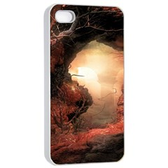 3d Illustration Of A Mysterious Place Apple Iphone 4/4s Seamless Case (white)