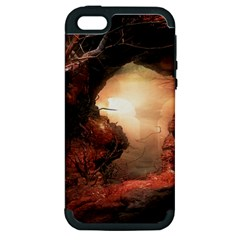 3d Illustration Of A Mysterious Place Apple Iphone 5 Hardshell Case (pc+silicone)